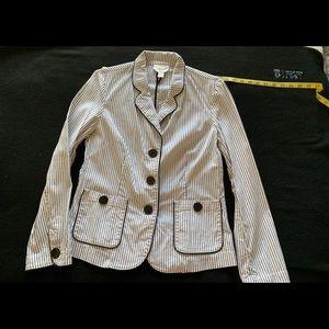 Talbots seersucker jacket size 8
